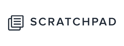 Scratchpad Typography Logo